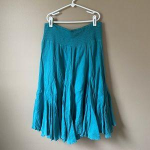 Anthropologie blue skirt